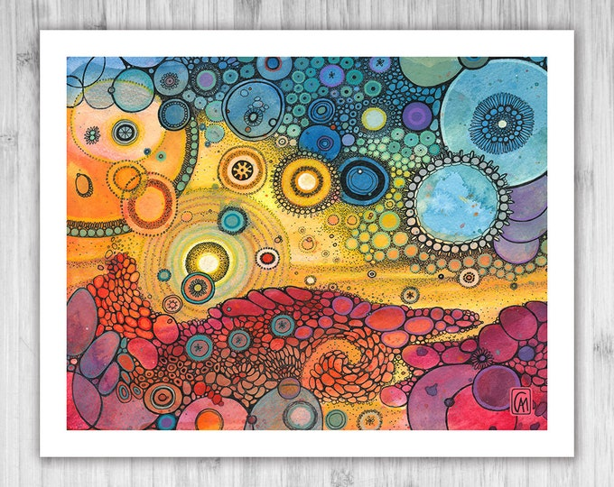 GICLEE PRINT - Indian Summer - DoodlePainting - Select Your Size