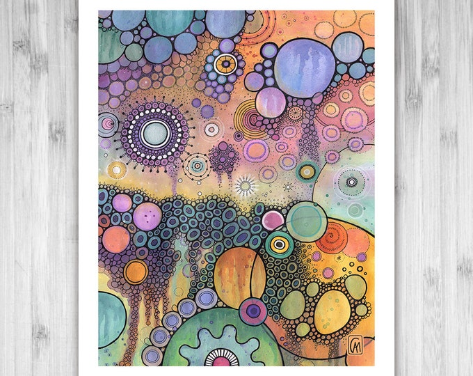 GICLEE PRINT - Strangeness and Charm - DoodlePainting - Select Your Size
