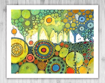 GICLEE PRINT - Our Own Pretty Ways - DoodlePainting - Select Your Size