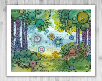 GICLEE PRINT - Go Do - DoodlePainting - Select Your Size