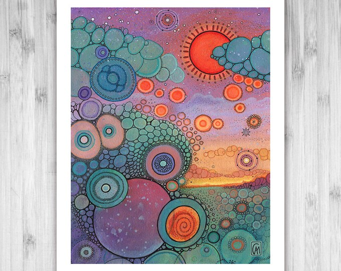 GICLEE PRINT - Scenic World - DoodlePainting - Select Your Size