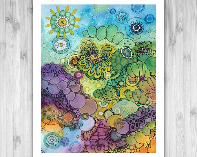 GICLEE PRINT - Furious Fillaments - DoodlePainting - Select Your Size