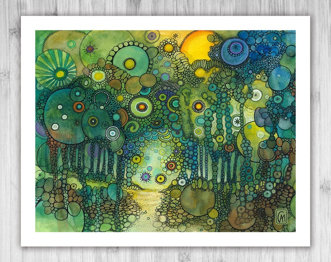 GICLEE PRINT - My Own Strange Path - DoodlePainting - Select Your Size
