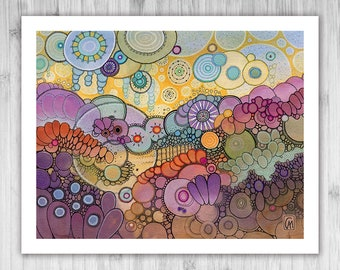 GICLEE PRINT - Into The Sun - DoodlePainting - Select Your Size