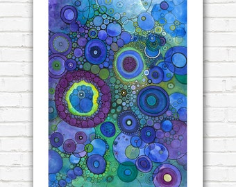 PRINT -  Light Years From Home - DoodlePainting - 5x7 or 8x10