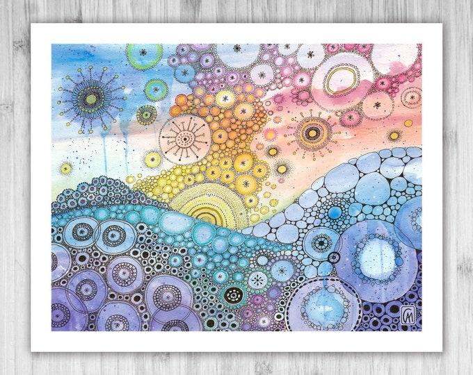 GICLEE PRINT - Anywhere Is - DoodlePainting - Select Your Size