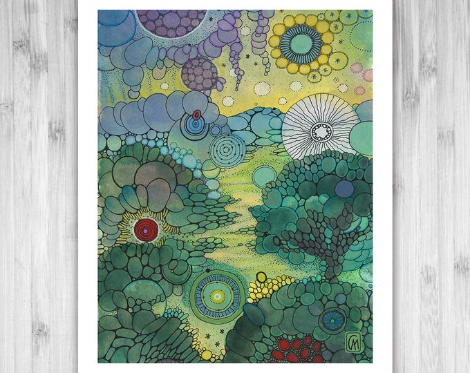 GICLEE PRINT -  Splendor - DoodlePainting - Select Your Size
