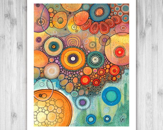 GICLEE PRINT -  Dream Machines - DoodlePainting - Select Your Size