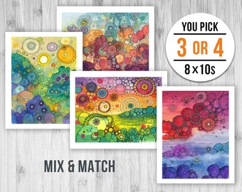 8x10 Giclee Print Pack - PICK ANY 3 or 4 PRINTS