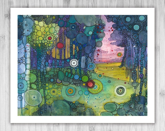 GICLEE PRINT -  In The Middle of This Nowhere - DoodlePainting - Select Your Size
