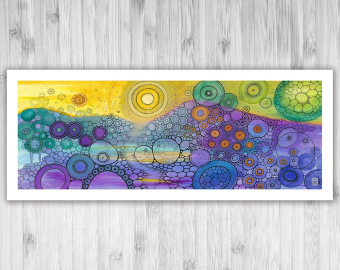 GICLEE PRINT -  Stardust - DoodlePainting - 30x12