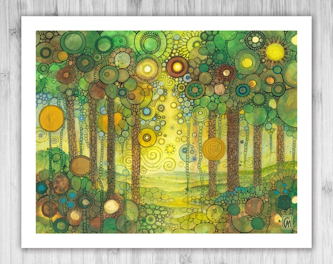 GICLEE PRINT - Amarantine - Doodle Painting - Select Your Size