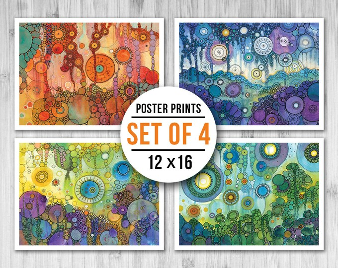 MINI POSTER PACK - Four Seasons - Set of Four 12x16 Mini Posters