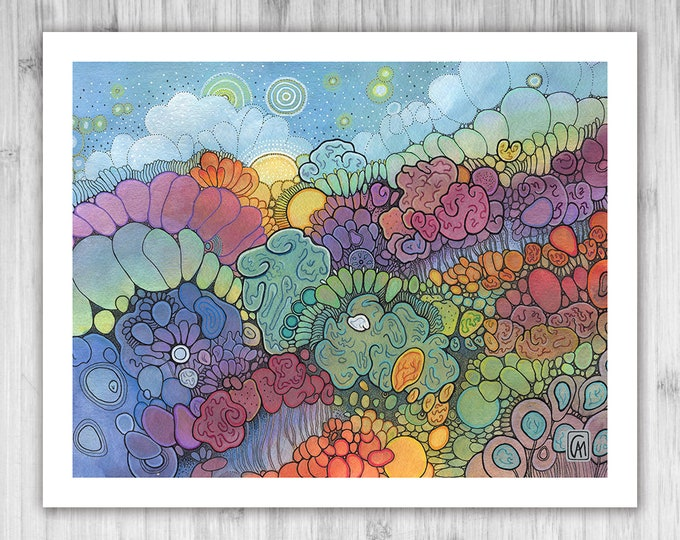GICLEE PRINT - Magic Hour - DoodlePainting - Select Your Size