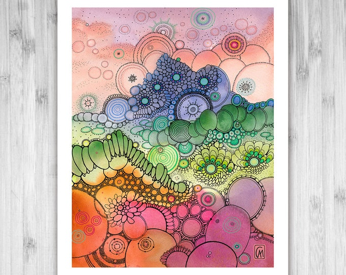 GICLEE PRINT -  Days of Candy - DoodlePainting - Select Your Size