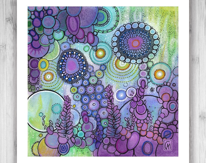 GICLEE PRINT - Emergence - Quad 1 - DoodlePainting - Select Your Size