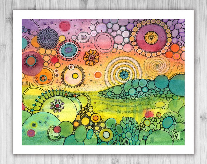 GICLEE PRINT -  Everglow - DoodlePainting - Select Your Size