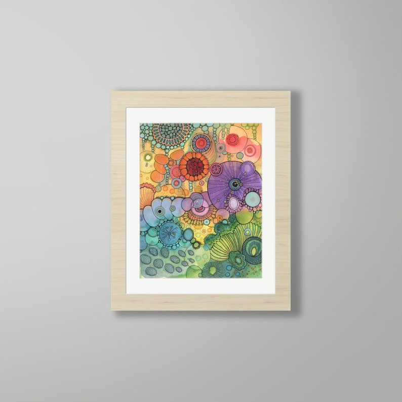 DoodlePainting  ORIGINAL   16x20  Abstract Circles image 0