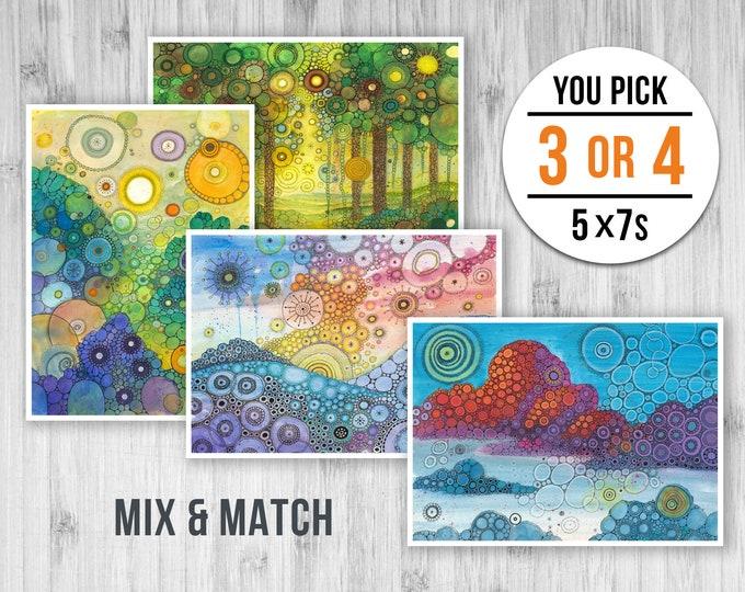 5x7 Mini Prints Pack - PICK ANY 3 or 4 PRINTS