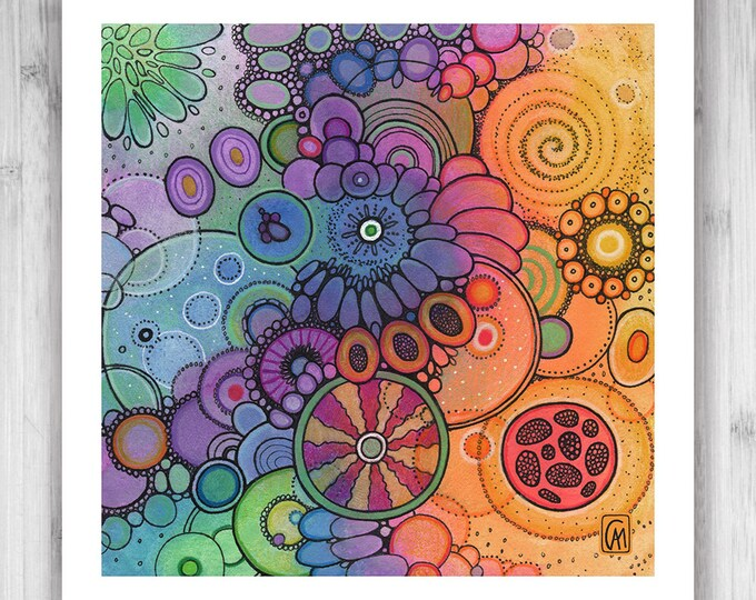 GICLEE PRINT - Promise - Quad 3 - DoodlePainting - Select Your Size