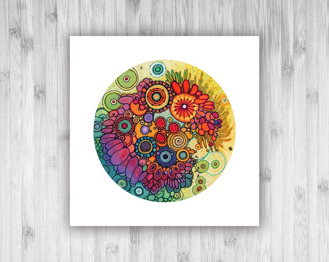 GICLEE PRINT - Treasure - DoodlePainting - Select Your Size