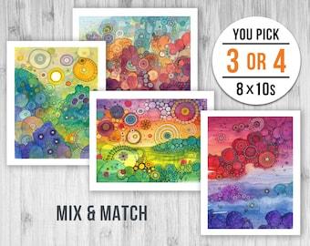 8x10 Giclee Print Pack - PICK ANY 3 or 4 PRINTS