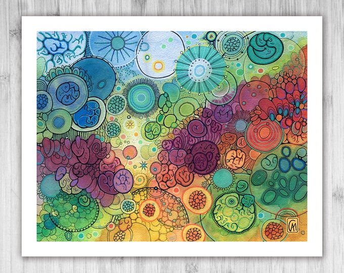 GICLEE PRINT - Flow - DoodlePainting - Select Your Size
