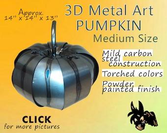 Metal Art Pumpkin, Medium Size by brown-Donkey Designs