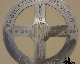 El Cristiano Obediente Metal Art Sign - Spanish Version