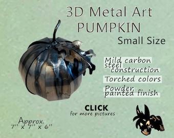 Metal Art Pumpkin, Small Size by Brown-Donkey Designs
