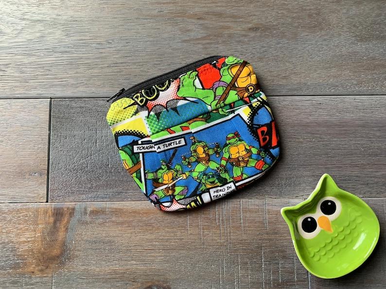 Small Pleated Pouch Teenage Mutant Ninja Turtles Print