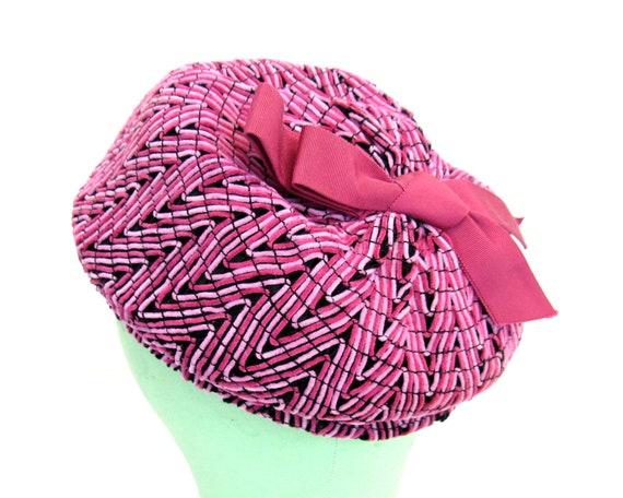 Vintage 1950s Pink Beret 50s Pink Beret Style Hat