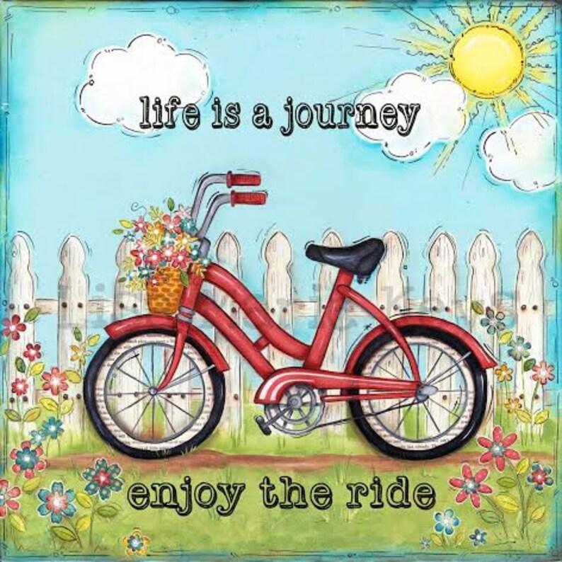 Red Bicycle  Children's Wall Art  Nursery Art  Bike image 0