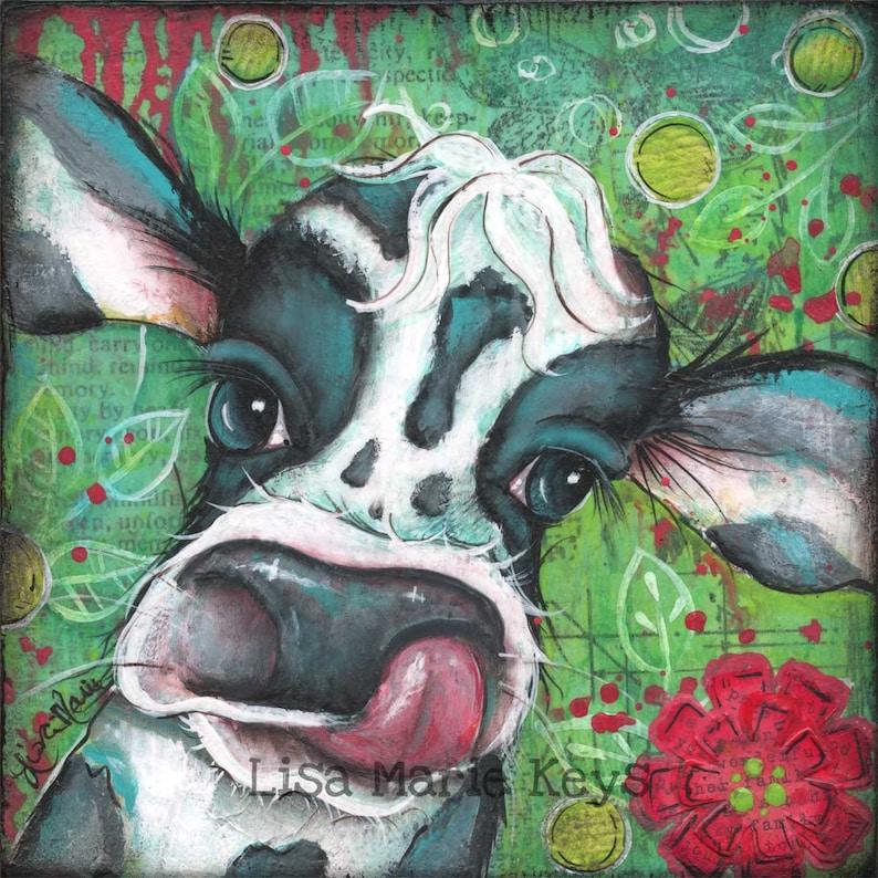 Cow Decor Wall Art Farm Kitchen Home DecorCow Wall Art image 0