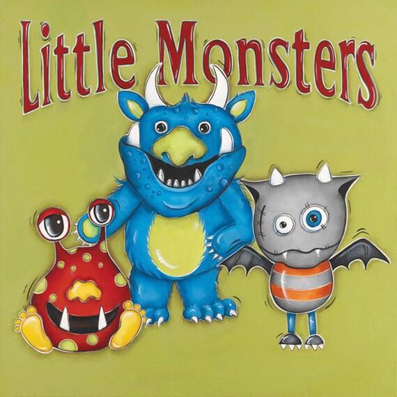 Monsters Wall Art Children\'s Wall Art Boys Room Decor
