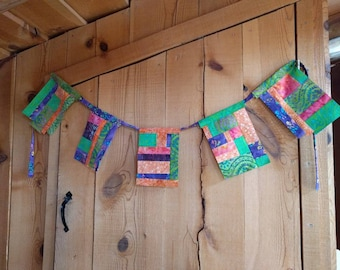 Bright Lights Batik Bunting Flags