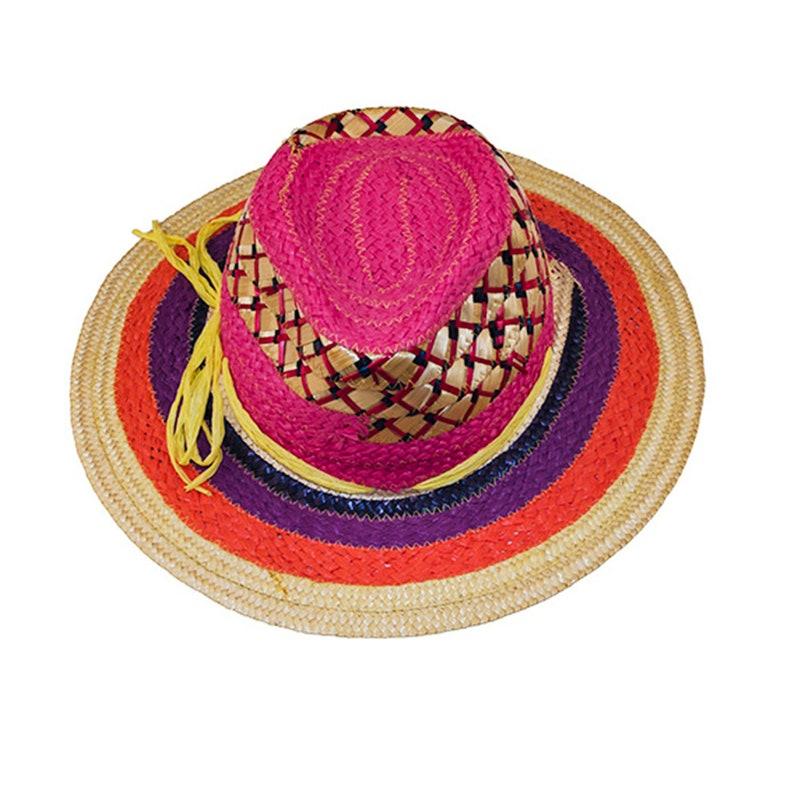 cffc1637 Vintage Sun Hat Rainbow Straw Hat Miriam Lefcourt Italy | Etsy