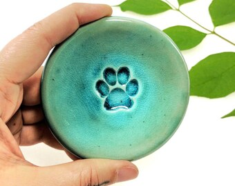 Paw Ring Dish, Turquoise, Ring Dish, Gift for Pet Lovers, In-Stock