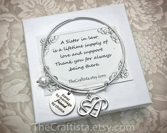 sil4b sister of the groom bracelet sister in law bangle maid of honor bangle sis of the groom gift bridesmaid jewelry matron of honor