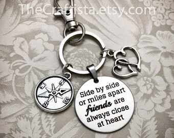 d69a39619e Boxed Friendship Keychain - F14K - Gifts for Friends, Compass Keychain,  Friendship Jewelry, Compass Charm, BFF Keychain, Graduation Gifts