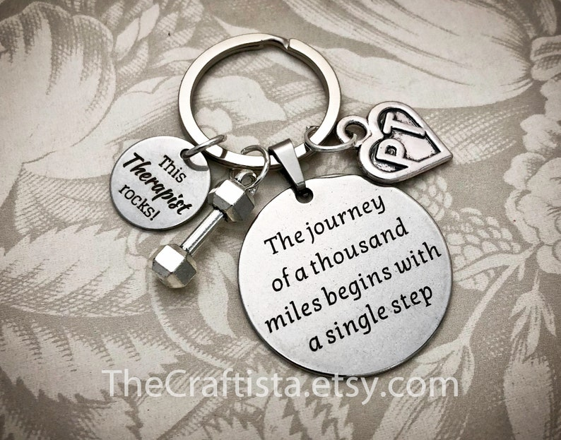 PT Keychain Physical Therapy Keychain PT Gift Physical image 0