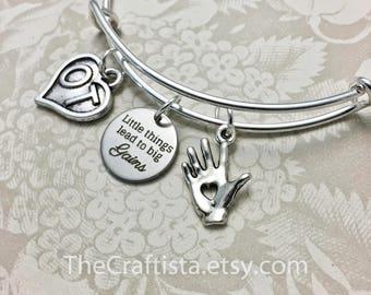 OT2 Bracelet, Occupational Therapy Bangle, OT Charm, Occupational Therapy Gift, Gifts for OT, Ot Bangle, Ot Jewelry, OT Gifts, Big Gains