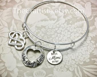 Mimi2, Mimi Bangle, Mimi Bracelet, Mimi Charm, Mimi Gift, Mimi Jewelry, Gifts for Mimi, Grandma Bangle, Best Mimi Ever, Grandma of the Bride