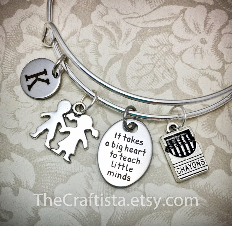 TB1 Personalized Teacher Adjustable Bangle Teacher's image 0