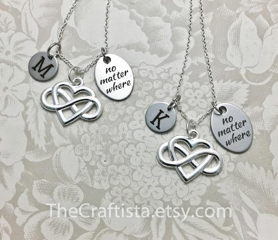 Soulmate  friendship  moi et toi sea glass necklaces