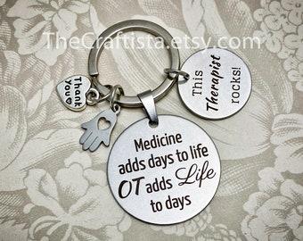 OTk Gifts,  Occupational Therapy Keychain, Ot Charm, Occupational Therapy Gift, Gifts for OT, Ot Gifts, Ot Jewelry, OT Gifts, OT quotes