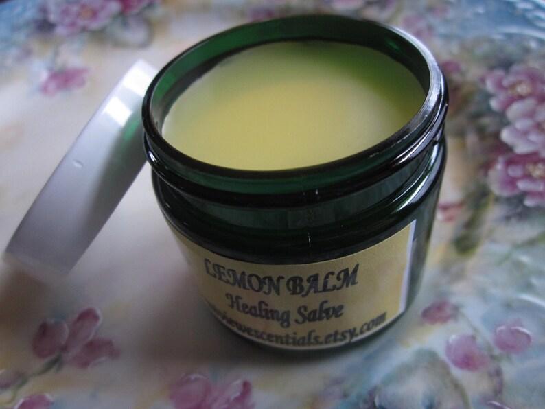 LEMON BALM HEALING Salve with organic essential oils image 0