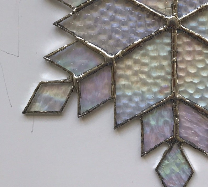design 12D stained glass snowflake suncatcher