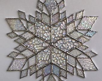 stained glass snowflake suncatcher (design 37C)