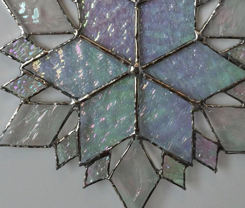 stained glass snowflake suncatcher design 36